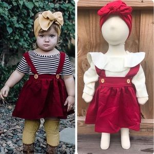 Other - Wine Red Overall Skirt